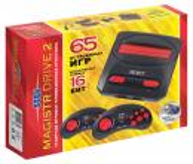 Sega Magistr Drive 2 Little черный в комплекте: 65 игр